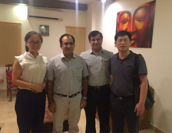 GBPI General Manager Mr Zhou and Manager Miss Janice Visit India